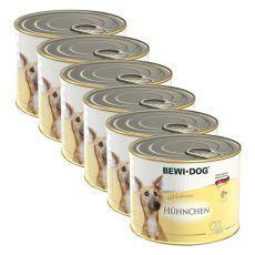 Bewi dog Paté - Kura - 6 x 200g, 5+1 GRATIS