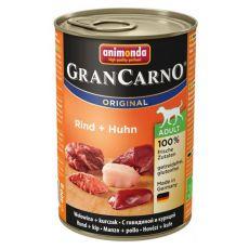 Konzerva GranCarno Original Adult hovädzie mäso a kura - 400g