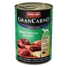 Konzerva GranCarno Original Adult hovädzie a jelenie mäso s jablkami - 400g