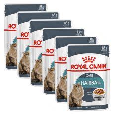 Royal Canin HAIRBALL CARE - kapsička 6 x 85g