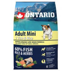 ONTARIO Adult Mini 7 Fish & Rice 2,25kg