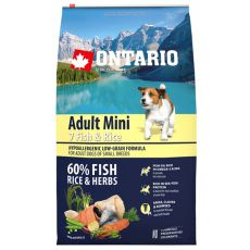 ONTARIO Adult Mini 7 Fish & Rice 6,5kg