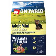 ONTARIO Adult Mini Lamb & Rice 2,25kg