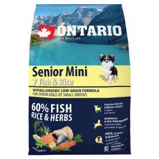 ONTARIO Senior Mini 7 Fish & Rice 2,25kg