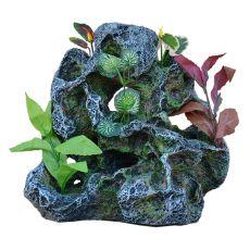 Dekorácia do akvária 2159 - Skala s umelými rastlinami