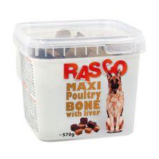Pamlsky RASCO - maxi kosť hydinová s pečeňou, 570g