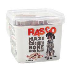 Pamlsky RASCO - maxi kosť kalciová so šunkou, 570g