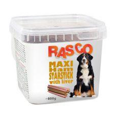 Pamlsky RASCO - maxi šunková hviezda s pečeňou, 800g