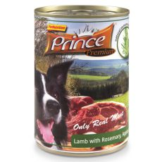 Konzerva PRINCE Premium - jahňa s rozmarínom, jablkami a mrkvou 400g