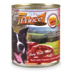 Konzerva PRINCE Premium – hovädzie s papájou, mrkvou a špenátom 800g