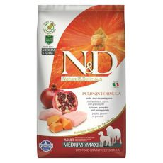 Farmina N&D dog GF PUMPKIN adult medium/maxi, chicken & pomegranate - 12kg