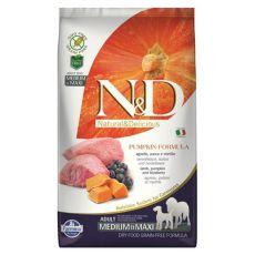 Farmina N&D dog GF PUMPKIN adult medium/maxi, lamb & blueberry - 12kg