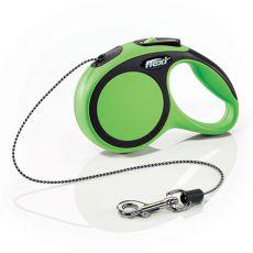 Flexi NEW COMFORT vodítko XS do 8kg, 3m lanko - zelené