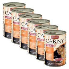 Krmivo CARNY ADULT hovädzie + kuracie mäso - 6 x 400 g