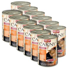 Krmivo CARNY ADULT hovädzie + kuracie mäso - 12 x 400 g