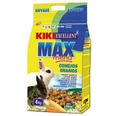 KIKI EXCELLENT MAX MENU - krmivo pre trpasličie králiky 4kg