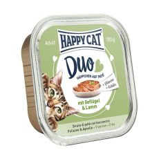 Happy Cat DUO MENU - hydina a jahňa, 100g