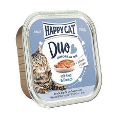 Happy Cat DUO MENU - hovädzie a treska, 100g