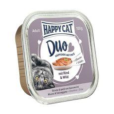 Happy Cat DUO MENU - hovädzie a zverina, 100g
