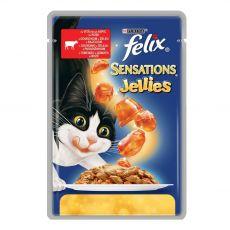 Felix Sensations - hovädzie mäso s rajčinami v želé, 100 g