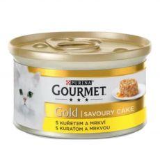 Konzerva Gourmet GOLD - Savoury Cake s kuraťom a mrkvou, 85g