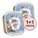 Happy Cat DUO MENU - hovädzie a treska, 100g + 100g GRATIS