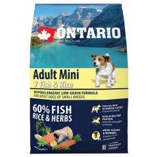 ONTARIO Adult Mini 7 Fish & Rice 0,75kg