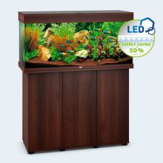 Set JUWEL akvárium RIO LED 180 tmavo hnedý + skrinka