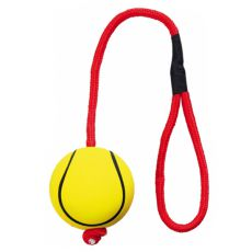 Gumená, penová lopta na lanku - 6cm