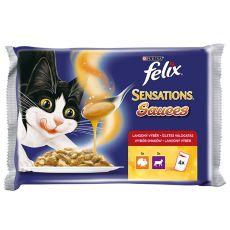 Felix Sensations Sauces - morčacie a jahňacie v omáčke, 400g