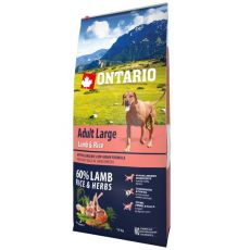 ONTARIO Adult Large - lamb & rice 12kg