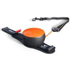 Lishinu NEON handsfree vodítko do 30kg, 3m - oranžové