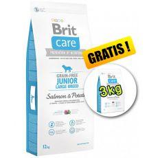 Brit Care Grain-free Junior Large Breed Salmon & Potato 12kg + 3kg GRATIS