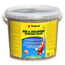 TROPICAL Koi & Goldfish spirulina sticks - 5l /450g
