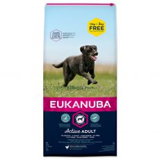 EUKANUBA ADULT Large Breed Chicken 15kg + 3kg ZDARMA