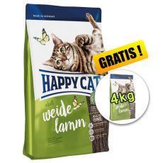 Happy Cat Supreme Adult Weide-Lamm 10kg + 4kg ZDARMA