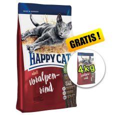 Happy Cat Supreme Adult Voralpen-Rind 10kg + 4kg ZDARMA
