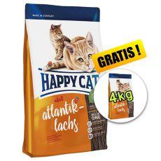 Happy Cat Adult Atlantik-Lachs, 10kg + 4kg ZDARMA