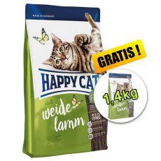 Happy Cat Supreme Adult Weide-Lamm 4kg + 1,4kg ZDARMA