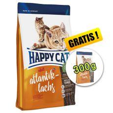 Happy Cat Adult Atlantik-Lachs 1,4kg + 300g ZDARMA