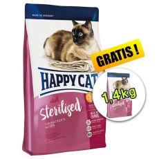 Happy Cat Adult Sterilised 4kg + 1,4kg ZDARMA