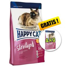 Happy Cat Adult Sterilised 10kg + 4kg ZDARMA