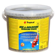 TROPICAL Koi & Goldfish spirulina sticks - 21 L / 1,8 kg