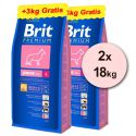 Brit Premium Junior Large 2 x 15kg + 6kg ZDARMA