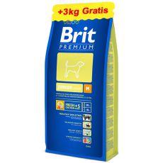 Brit Premium Junior Medium 15kg + 3kg ZDARMA