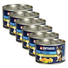Konzerva ONTARIO Multi Fish a lososový olej, 6 x 200g