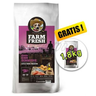 Farm Fresh Fish Sensitive Mini/Medium GF 15 + 1,8kg GRATIS
