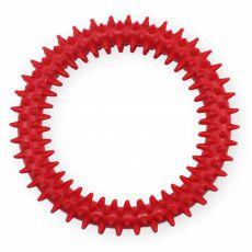 TPR Gumený kruh s výstupkami - červený 12,5cm