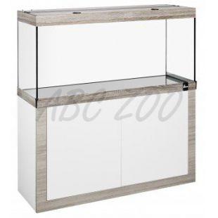 Akvárium so skrinkou FINE LINE 120x40cm LED 30W bielo-hľuzovkové