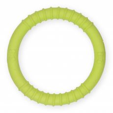 TPR Gumený kruh s výstupkami - žltý 9,5cm